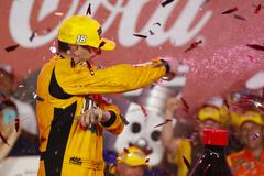 NASCAR: May 27 Coca-Cola 600. May 27, 2018 - Concord, North Carolina, USA: Kyle Busch 18 wins the Coca-Cola 600 at Charlotte Motor Speedway in Concord, North stock photography