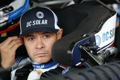NASCAR: May 26 Coca-Cola 600. May 26, 2018 - Concord, North Carolina, USA: Kyle Larson 42 straps into his car to practice for the Coca-Cola 600 at Charlotte royalty free stock images