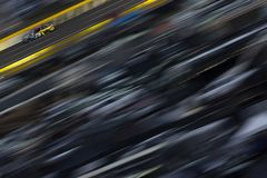 NASCAR: May 27 Coca-Cola 600. May 27, 2018 - Concord, North Carolina, USA: Martin Truex, Jr 78 races down the back stretch during the Coca-Cola 600 at Charlotte royalty free stock photography