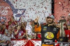 NASCAR: May 26 Coca-Cola 600. May 26, 2019 - Concord, North Carolina, USA: Martin Truex Jr. 19 wins the Coca-Cola 600 at Charlotte Motor Speedway in Concord stock image