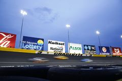 NASCAR: May 27 Coca-Cola 600. May 27, 2018 - Concord, North Carolina, USA: The Monster Energy NASCAR Cup Series teams race through turn three during the Coca royalty free stock image