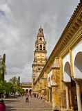 Bell tower and courtyard stock photos