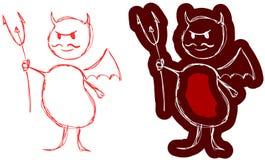 Mały czerwony diabeł Obraz Royalty Free