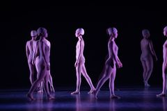 Upright walking-Huang Mingliang`s dance`No shelter`. In May 25, 2018, the dance drama `no shading` was staged at the theater of Jiangxi science and technology Royalty Free Stock Photography