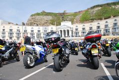 May Day bikers rally, Hastings Stock Image