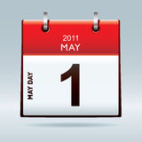 May Day Calendar Icon Stock Photography