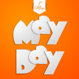 May Day. Creative   abstract for Happy May Day with nice and creative illustration in a background Royalty Free Stock Photography