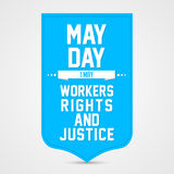 May Day. Creative   abstract for Happy May Day with nice and creative illustration in a background Stock Photo