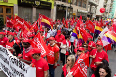 May Day Demonstrations Stock Image