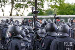 May Day 2014 in Hamburg Royalty Free Stock Image