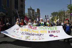 May Day in Istanbul Royalty Free Stock Image