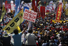May Day in Istanbul Stock Photo