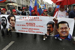 May Day Manifestation Paris, Cuban Protesters Royalty Free Stock Photography