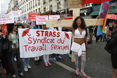 May Day Manifestation, Paris, Sex Workers Stock Photos