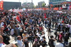 May Day in Turkey Royalty Free Stock Images