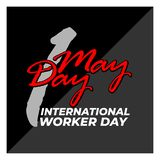 1 may day typography simple design_script stock illustration