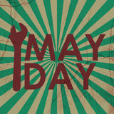 May Day. Vintage May Day Greeting Card Royalty Free Stock Photo