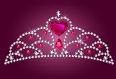 mały diademu princess Zdjęcia Royalty Free