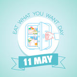 11 may Eat What You Want Day Royalty Free Stock Image