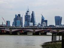 May 20, 2018, England. A panorama of London from the height of the observation deck of the Museum of Modern Art royalty free stock photography