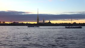 View on the Peter and Paul fortress timelapse. Saint Petersburg stock video footage
