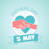 5 may fathers day. Calendar for each day on may 5. Greeting card. Holiday - fathers day. Icon in the linear style Royalty Free Illustration