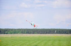 May 11, 2011 - the festival of aeromodelling at the airport in the town of Borodyanka, Kiev region. Ukraine stock photo