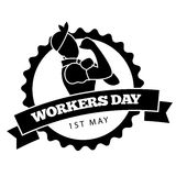 May first workers day design Stock Photo