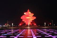May fjärde fyrkant av Qingdao Fotografering för Bildbyråer