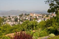 Old quarter of Granada stock photography