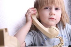 May I ask who's calling? Royalty Free Stock Photos