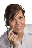 May I help you?. Woman with a Head Set Stock Photos