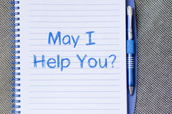 Free May I Help You Write On Notebook Royalty Free Stock Photography - 88891877