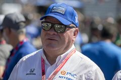 IndyCar: May 27 Indianapolis 500. May 27, 2018 - Indianapolis, Indiana, USA: Chip Ganassi hangs out on pit road prior to the green flag for the Indianapolis 500 Royalty Free Stock Photos