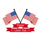 Happy Labor Day background. Vector illustration. 1 May. International Labor Day background. Vector illustration. Poster, greeting card or brochure template Stock Images