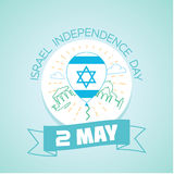 2 may  Israel Independence Day Stock Images