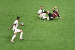 MAY 7, 2017: italian serie A soccer match AC Milan vs AS Roma 1 - 4. Stock Photography