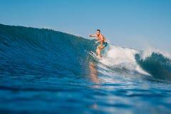 May 31, 2018. Keramas, Bali, Indonesia. Joel Parkinson ride on wave, surfing in ocean. May 31, 2018. Keramas Bali, Indonesia. Joel Parkinson ride on wave Stock Photos