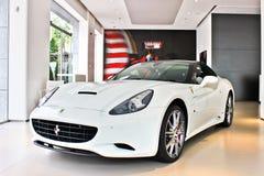 13 May 2017, Kiev - Ukraine. White Ferrari. Ferrari California royalty free stock photos