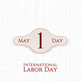 May 1 Label. International Labor Day. Vector Illustration Stock Photography
