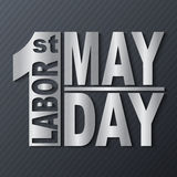 1 May. Labor Day.Vector illustration with metallic text on a dark background. 1 May. Happy Labor Day.Vector illustration with metallic text on a dark background stock illustration
