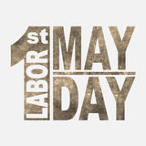 1 May. Labor Day.Vector illustration in sepia style on white background.Design elements in grunge style. 1 May. Happy Labor Day.Vector illustration in sepia stock illustration