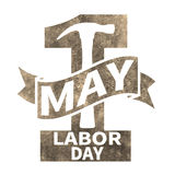 1 May. Labor Day.Vector illustration in sepia style on white background.Design elements in grunge style. 1 May. Happy Labor Day.Vector illustration in sepia Royalty Free Illustration