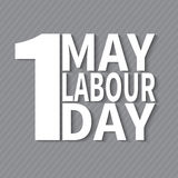 1 May. Labor Day.Vector illustration with white text on a gray background. 1 May. Happy Labor Day.Vector illustration with white text on a gray background.Labor royalty free illustration