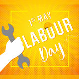 1 may - labour day banner Royalty Free Stock Photo