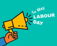 1 May Labour Day greeting card or background. Stock Image