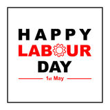 1 May Labour Day greeting card or background. Stock Photos