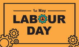 1 May Labour Day greeting card or background. Stock Photo