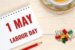 1 may, labour day. Calendar date royalty free stock images