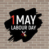 1 May Labour Day Poster or Banner. Vector Illustration Stock Photography